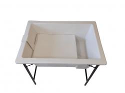 Banheira Pequena Com Degrau E Suporte De Ferro - Branca